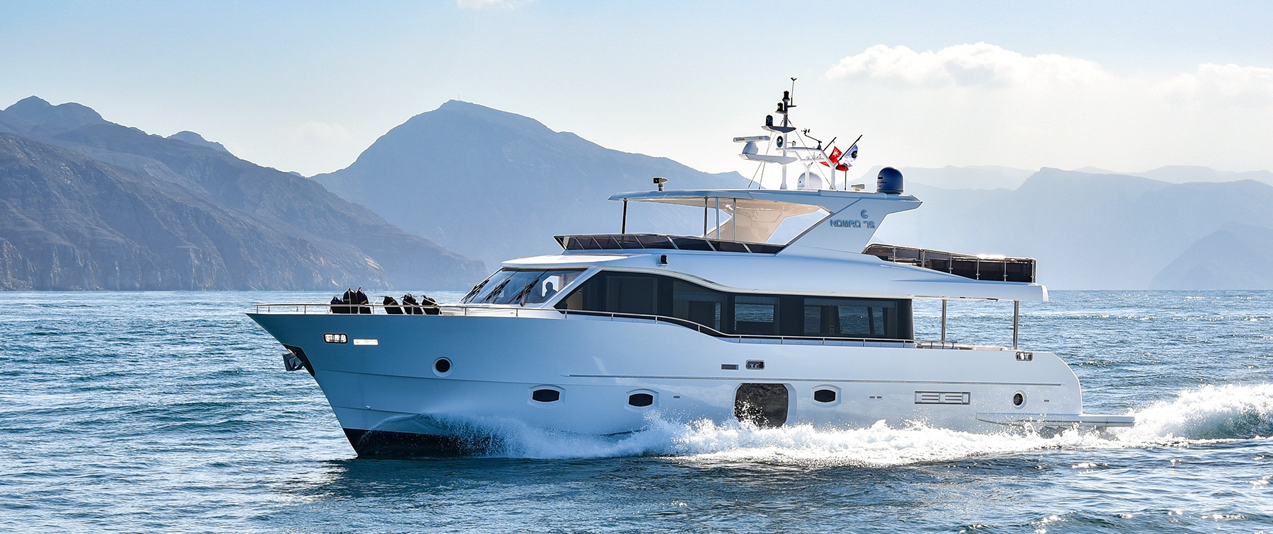 The luxurious Nomad 75 Yacht