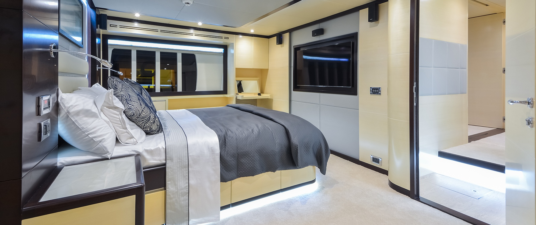 The superb interior of the Nomad 75 by Gulf Craft