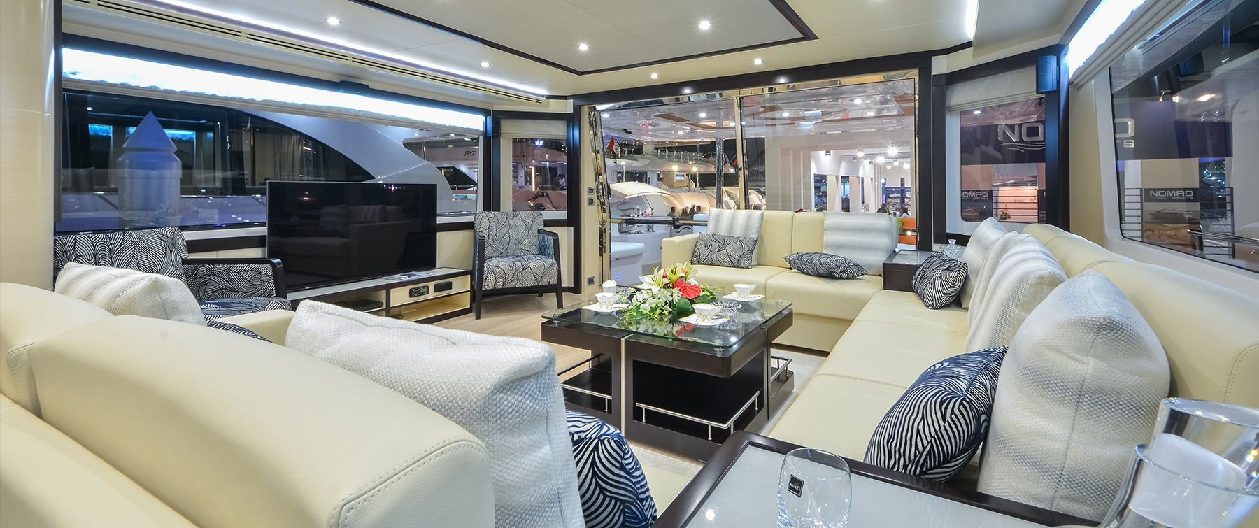 The luxurious interior of the Nomad 75